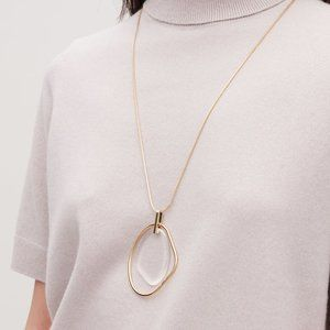 Clear Acrylic Circle Long Necklace